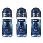 Nivea Cool Kick Desodorante Rollon Masculino 50ml (kit C/03)