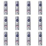 Nivea For Men Silver Protect Desodorante Aerosol 150ml (kit C/12)