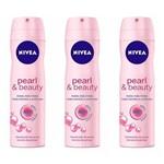 Nivea Pearl Beauty Desodorante Aerosol 150ml (kit C/03)