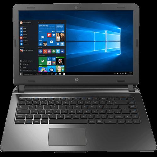 "Notebook HP 14-ap020 Intel Core I3 4GB 500GB Tela LED 14"" Windows 10 - Chumbo"