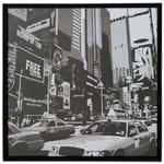 Nova York I Quadro 73 Cm X 73 Cm Preto/branco