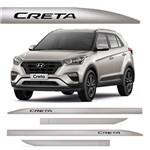Novo Friso Lateral Slim Hyundai Creta Prata Metal