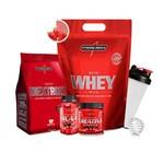 Nutri Whey Refil 1,8kg + Dextrozz + Bcaa + Creatina + Coqueteleira