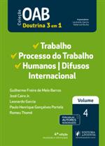 OAB 1ª Fase - V.4 - Trabalho, Processo do Trabalho, Internacional e Difusos (2019)