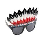Óculos Escuro Índio Acessório para Fantasia Carnaval Colorido