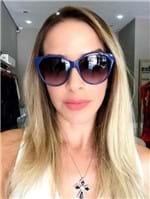 Óculos Exclusiva Azul Replica Verão 2018