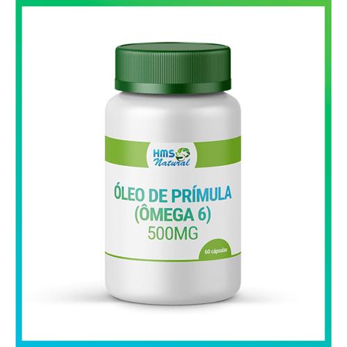 Óleo de Prímula (ômega 6) 500mg Cápsulas Vegan 60 Cápsulas Oleosas
