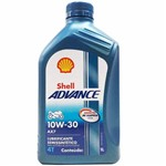 Óleo Lubrificante do Motor Shell Advance 4t Ax7 10w30 Semissintético 1l