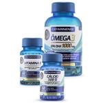 Ômega 3 120 Cápsulas + Vitamina e 60 Cápsulas + Cálcio 500 D 60 Cápsulas - Catarinense