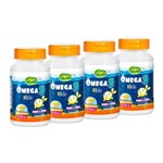 Ômega 3 Kids - 500mg - 60 Caps - Kit 4 Unidades - Unilife