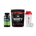 On Whey 100% 837g (Chocolate) + Bcaa 60 Caps - Optimum Nutrition