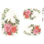 OPApel Decoupage Cód. 2315 Flor Rosa I