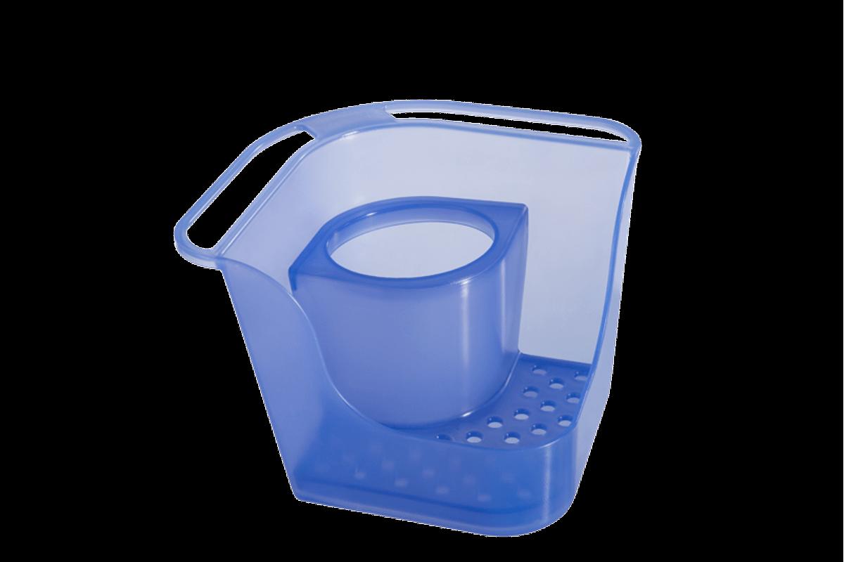 Organizador de Pia Flex Basic 16,6 X 16,6 X 12 Cm Azul Coza