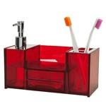 Organizador de Pia para Banheiro Brinox Quadrata, Vermelho