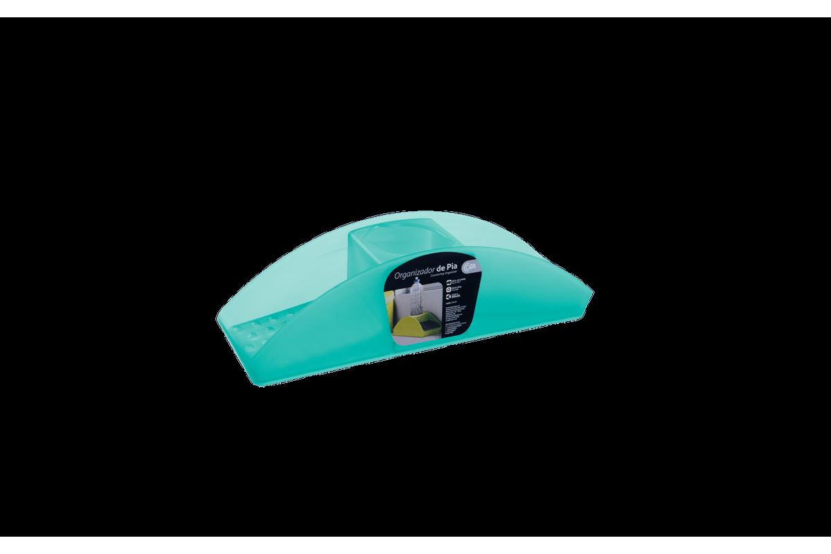 Organizador de Pia Pia Basic 32,2 X 8,6 X 9,1 Cm Verde Coza