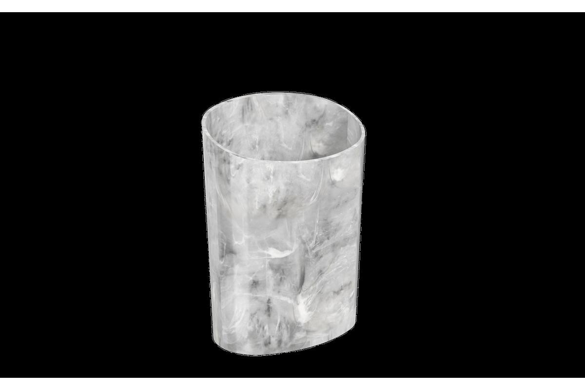 Organizador Glass 11,7 X 8,1 X 16,2 Cm Mármore Branco Coza
