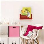 Organizador Porta Livros e Revisteiro de Parede Infantil Vermelho