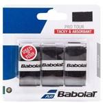 Overgrip Babolat Pro Tour Preto com 03 Unidades
