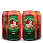 Pack 04 Cervejas Brooklyn East IPA Lata 355ml