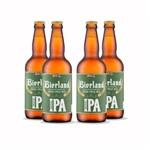 Pack 4 Cervejas Artesanal Bierland American Ipa 500ml