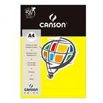 Pacote Canson Color Amarelo Canário 180g/M² A4 210 X 297 Mm com 10 Folhas - 66661188