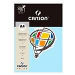 Pacote Canson Color Azul Claro 180g/M² A4 210 X 297 Mm com 10 Folhas - 66661199