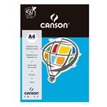 Pacote Canson Color Azul Royal 180g/M² A4 210 X 297 Mm com 10 Folhas - 66661201