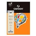 Pacote Canson Color Cenoura 180g/M² A4 210 X 297 Mm com 10 Folhas - 66661190