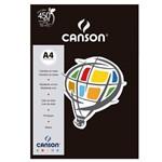 Pacote Canson Color Preto 180g/M² A4 210 X 297 Mm com 10 Folhas - 66661211