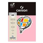 Pacote Canson Color Rosa Claro 180g/M² A4 210 X 297 Mm com 10 Folhas - 66661195