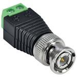 Pacote com 10 Conector Plug Bnc Macho com Borne