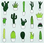 Pacote de Guardanapos Descartaveis Cactus