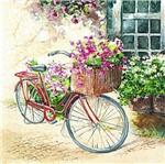 Pacote de Guardanapos Descartaveis Flores e Bicicleta