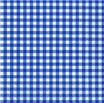 Pacote de Guardanapos Descartaveis Xadrez Azul