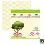 Página para Scrapbook Básico Dupla Face Toke e Crie Corujinhas da Floresta na Árvore - 15684 - Sdf441