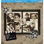 Página para Scrapbook Dupla Face Litoarte 30,5 X 30,5 Cm - Modelo Sd-873 Estrelas de Cinema / Filmes