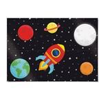 Painel 4 Laminas Astronauta 92x132cm Decoração Festas