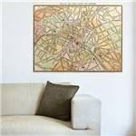 Painel Adesivo de Parede - Mapa Paris Vintage - N2009