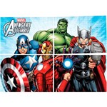 Painel Avengers Animated Regina Festas com 1 Unidade 126x88cm