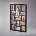 Painel Collection para 14 Fotos 10X15 e 1 Foto 15X21 Preto 73X48,5X4cm