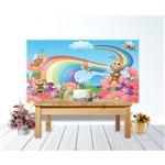 Painel de Festa Abelhas Primavera e Flores