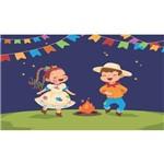 Painel de Festa Junina Crianças-120x070cm