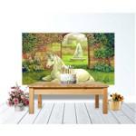 Painel de Festa Unicornio Jardim Secreto