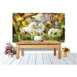 Painel de Festa Unicornio na Floresta