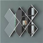 Painel Decorativo Losango 3d 127cm Tb83 Off White/espelho Dalla Costa
