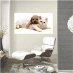 Painel Fotográfico Adesivo - Cachorro e Gato Modelo 03
