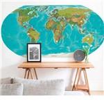 Painel Fotográfico Adesivo Mapa Color 1,8m X 90cm Grudado Adesivos