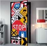 Painel Fotográfico Adesivo Stop para Porta Grudado Adesivos
