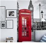 Painel Fotográfico Adesivo Telefone UK Multicor 1,83m X 2,6m Grudado Adesivos