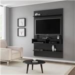 Painel para Tv Até 47'' com Mesa de Centro Preto Fosco - Móveis Bechara